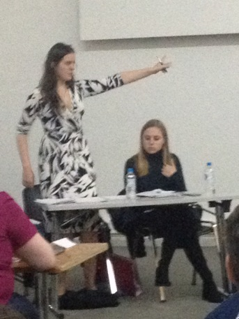 Katie Heard and Kez Exley (Durham A) in the WUDC Octo-finals