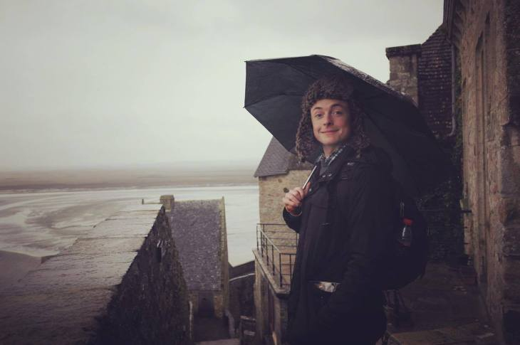 In the rain at Mont Saint-Michel