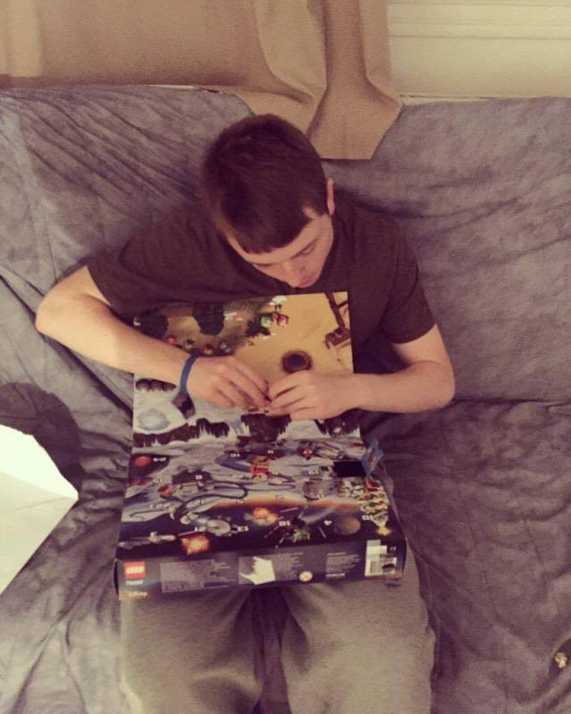 With my Star Wars advent calendar